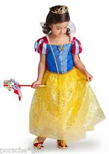 Disney Store Snow White and the Seven Dwarves Dress Costume Toddler Girls 5 6