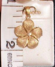 Plumeria Flower Hawaiian Hawaii Yellow 14K solid gold