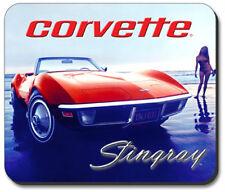 C3 Corvette Stingray Black Rubber Base Computer Mouse Pad Logo Licensed