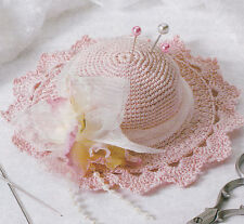 Crochet Pattern ~ PINK HAT PINCUSHION ~ Instructions