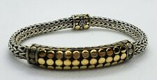 John Hardy Sterling 18k Gold Dot Bracelet
