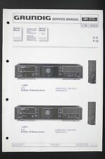 Grundig V 11/v 12/amplifier amplificatore Service-Manual/Schema elettrico Diagram/o96
