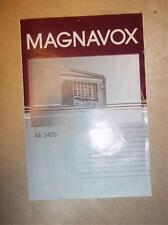 Original Magnavox AE 3405/37 Owner Manual~World Receiver/Radio~Instructions