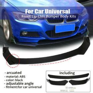 Universal Front Bumper Lip Body Kit Spoiler Glossy Black For E90 E91 F10 F18 F30