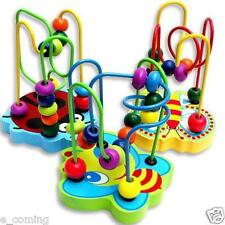 Kids Baby Color Wooden Mini Around Beads Educational Developmental Game Toy Gift