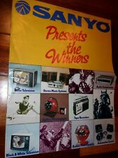 Vintage 1973 SANYO Consumer Electronics Catalog, TV, Radio, Auto, Stereo, Clocks