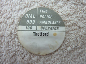 GPO BT P.O Original Used Telephone Dial Label 706 746 8746 Thetford Old phone