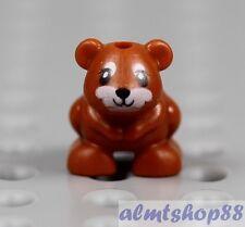 LEGO - Hamster Dark Orange - Small Pet Mouse Farm Animal Zoo Minifigure Friends