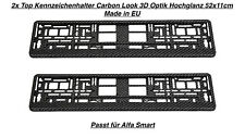 2x Top Kennzeichenhalter Nummernschildhalter Carbon Look 3D Optik 52 x 11 cm (68