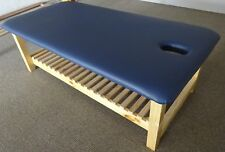 ULTRASTYLE THAI MASSAGE TABLE NAVY BLUE TOP SLAT RACK L190 H65 W90cm AUS MADE