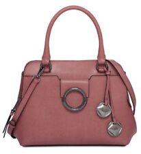 Calvin Klein Leather Reese Top Handle Satchel Purse Handbag Dahlia Pink $248