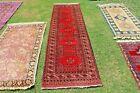 COLLECTORS' PIECE Antique Saryk Turkoman Natural Vegetable Indigo Hall Way Runer