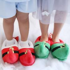 RED/GREEN CHRISTMAS Home Slippers Shoes WITH BELLS XMAS FANCY DRESS COSTUME LG