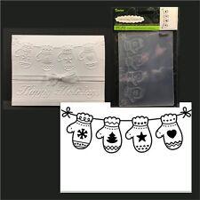 Hanging Mittens Christmas embossing folder - Darice embossing folders 1219-225