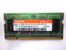 512MB MEMORIA RAM HYNIX HYMP564S64P6-E3 400MHz SODIMM 200 Pin 2Rx16 PC2 3200S