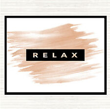Watercolour Dark Relax Quote Dinner Table Placemat