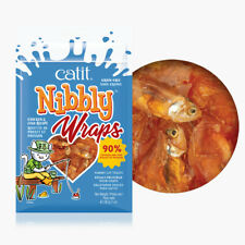 Catit Nibbly Wraps Chicken Fish Recipe 1 oz Premium Cat Treat Grain Free Protein