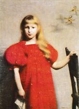 vintage postcard Art Poland Józef Pankiewicz Portret dziewczynki #121 post card