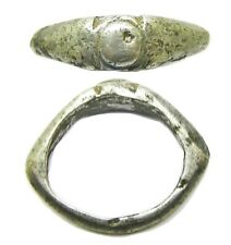 2nd - 3rd century AD Ancient Roman silver finger ring Heing type VIII