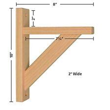 Wood Shelf Bracket - Oak Straight 8