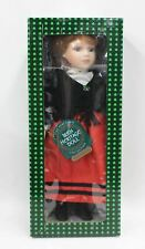 ALLCRAFT Irish Heritage Doll Collection Kathleen Shawland Red Dress Doll NEW