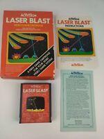 Vintage Laser Blast by Activision for Atari 2600 CIB box manual game