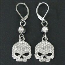 Skull Crystal Stainless Steel Earrings (Willie G Harley clone)