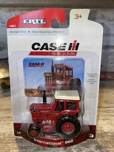 1/64th Scale International 966 Tractor With Cab Ertl Die-Cast