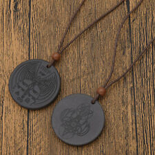 Retro Scalar Bio Energy Quantum Ion Pendant Necklace Power Jewelry Leather Chain