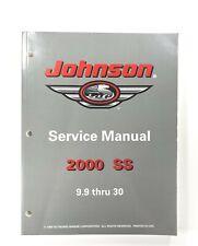 2000 Johnson SS 9.9 15 25 30 HP OMC Service Shop Repair Manual 787067