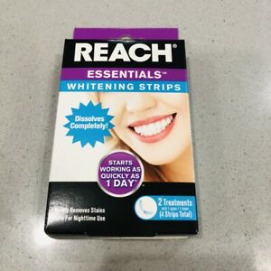 Reach Essentials Whiteening Trips 2 Treatment Box Safe For Night Use New