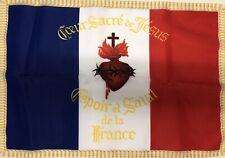 DRAPEAU Français Sacré Cœur De Jésus Catholique Roi France