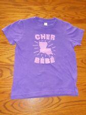 EUC American Apparel Girls Purple French Louisiana Shirt, Size 4