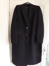 Marks & Spencer Black Wool Coat Size 18