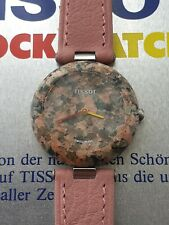 Gorgeous New Old Stock Tissot Rockwatch in speckled terracotta granite