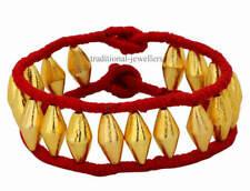 22K 22C Gelbgold Fußkettchen Dholaki Design Tribal Bauchtanz Indian Folk Schmuck