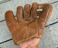 "New listing VTG 1940s Nocona ""Cub"" Left-Handed Leather Baseball Mitt Glove"