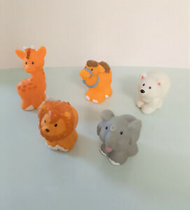 Fisher Price - Little People - Zoo / Ark Animals x5