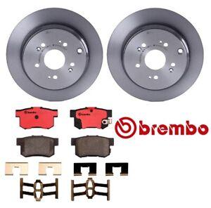 Brembo Rear Brake Kit 2 UV Coated Disc Rotors & Ceramic Pads for Acura RDX Honda