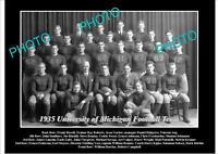 OLD LARGE HISTORIC PHOTO OF UNIVERSITY OF MICHIGAN FOOTBALL TEAM 1935