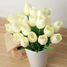 Colorful Artificial Tulip Fake Flower Latex Bridal Wedding Bouquet Party Decor