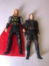 """2015 HASBRO THOR With Red Cape 2012 HASBRO LFL STAR WARS ACTION FIGURE 12"""""""