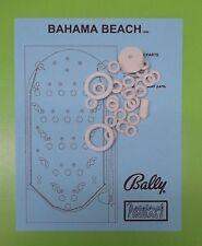 1966 Bally Bahama Beach pinball / bingo rubber ring kit