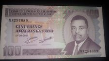 BURUNDI 100 FRANCS 2011 P44b UNC African Currency.  Best offer/Multi available
