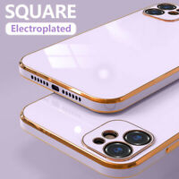 Shockproof Square Plating Soft Case Cover For iPhone 12 Pro Max 11 XS XR X 8 7+
