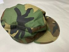 Us Military Cap Size 7 3/4 Xl Camo Combat Woodland Camouflage Patrol Field Hat