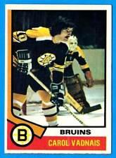1974-75 Topps # 165 CAROL VADNAIS (ex) Boston Bruins