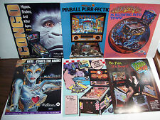 Lot Of (6) ORIGINAL PINBALL MACHINE FLYERS SCARED STIFF CONGO BRIDE set  #32