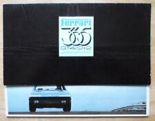 FERRARI 365 GT4 2 +2 dell' onorevole Pininfarina ORIGINALE 1972 SALES BROCHURE - # 69/72