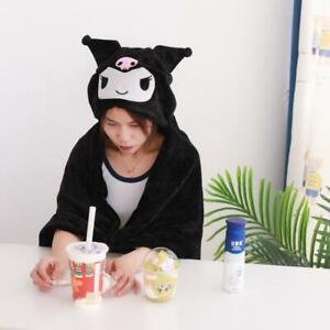 Cute Kuromi Cinnamoroll My Melody Cape Shawl Hooded Blanket Office Study Cloak